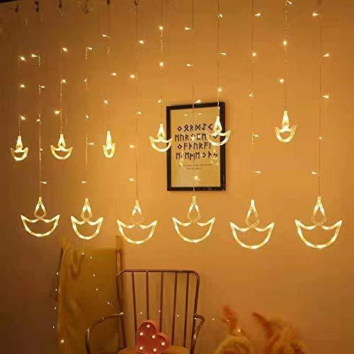 Diya Curtain LED Lights